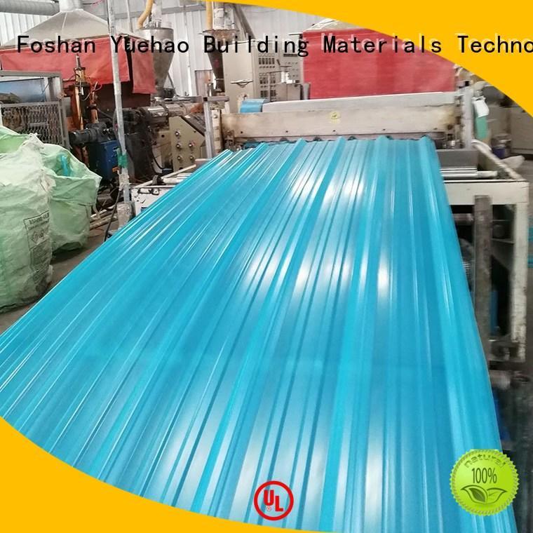 Yuehao plastic roof tiles wholesaler Brand ISO certificate best popular clear roof panels price trendy