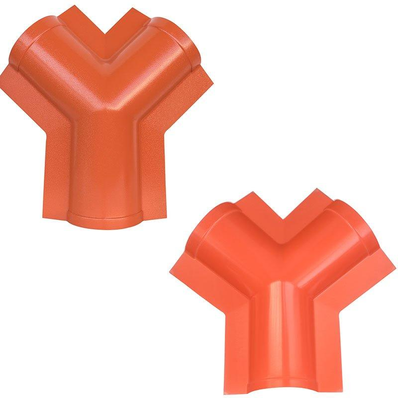 Accessory of ASA synthetic resin tile top ridge tile / side ridge tile / flashing board