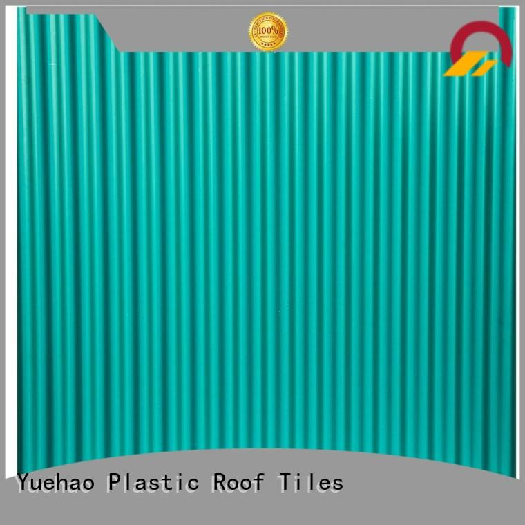 high quality high quality lightweight plastic roof tiles hot sale Yuehao plastic roof tiles wholesaler