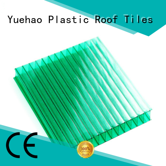 Yuehao plastic roof tiles wholesaler Brand customized ISO certificate clear plastic roofing manufacture