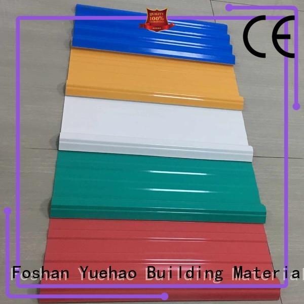 hot sale popular SGS certificate lightweight plastic roof tiles Yuehao plastic roof tiles wholesaler Brand company