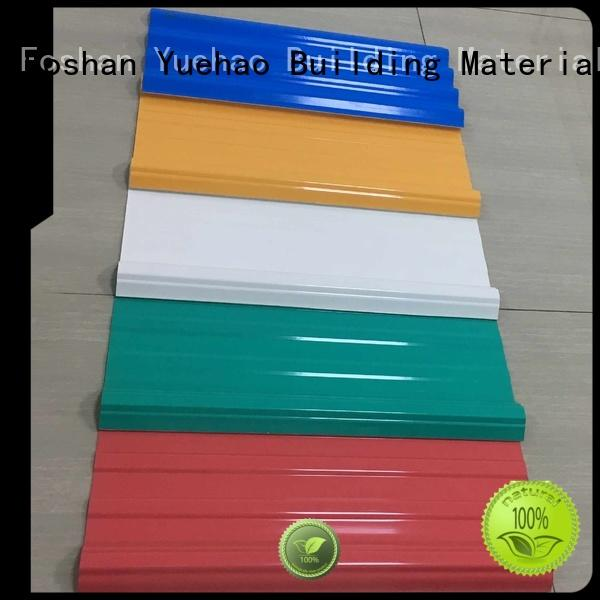 customized high quality hot sale OEM lightweight plastic roof tiles Yuehao plastic roof tiles wholesaler