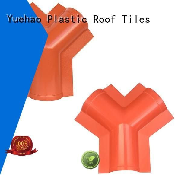 Yuehao plastic roof tiles wholesaler Brand construction building trapezoidal roofing sheet accessories