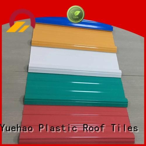 trendy new building material top selling plastic roof tiles manufacturer Yuehao plastic roof tiles wholesaler Brand