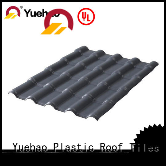 Yuehao plastic roof tiles wholesaler roofing synthetic roof tiles design for wall sealing