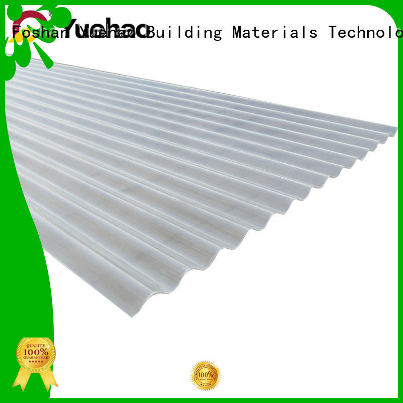 roof clear flat plastic roof panels competitive for wall sealing Yuehao plastic roof tiles wholesaler