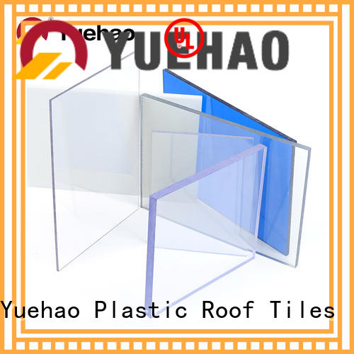 solid clear poly roof panels shed for wall sealing Yuehao plastic roof tiles wholesaler