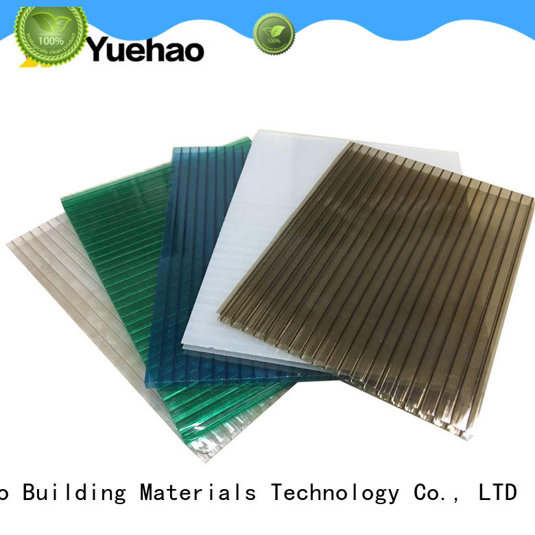 Yuehao plastic roof tiles wholesaler popular clear corrugated plastic sheets greenhouse dropshipping for dormer clapping