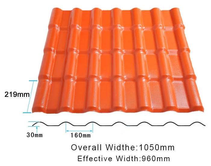 competitive price synthetic roof tiles spanish design for connection-4