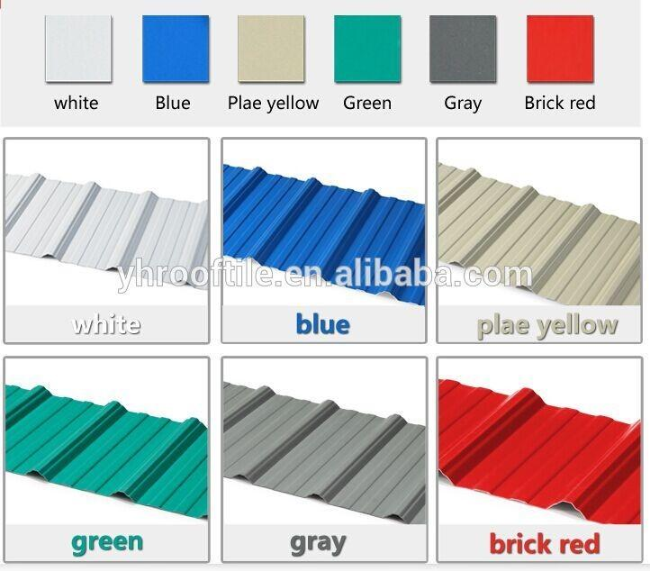 Yuehao plastic roof tiles wholesaler mounted plastic roofing products bulk production for depot