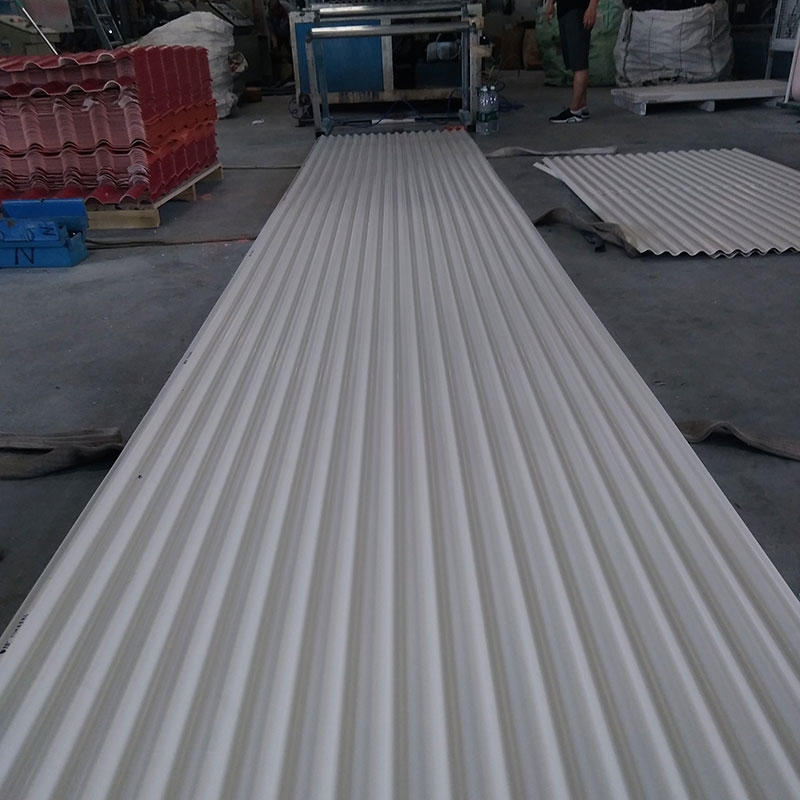 trapezoidal roof sheet type 2.0mm thick green UPVC roofing sheet