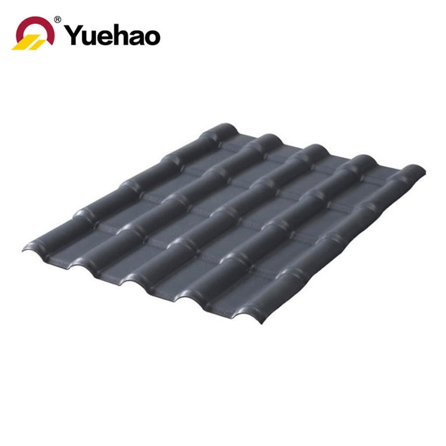 luxury products for house ASA coated PVC plastic roof tile resin roofing tiles