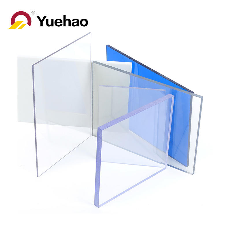 Solid embossed clear PC roof sheet for shed