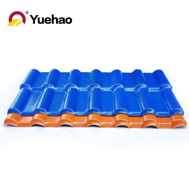 Long life fire resistant anti corrosion roof tile pvc roof sheet