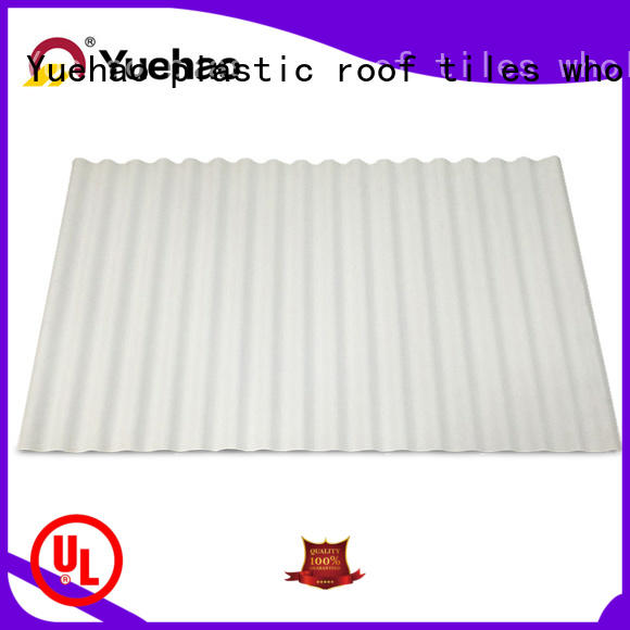 Yuehao plastic roof tiles wholesaler roof pvc roofing sheet price grab now for carport
