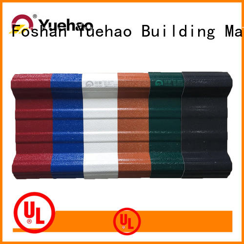 uv plastic roofing application for construction application Yuehao plastic roof tiles wholesaler