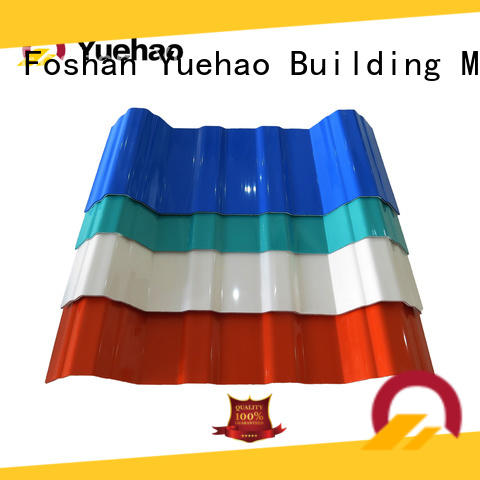 Yuehao plastic roof tiles wholesaler roof plastic roof tiles manufacturer factory price for connection