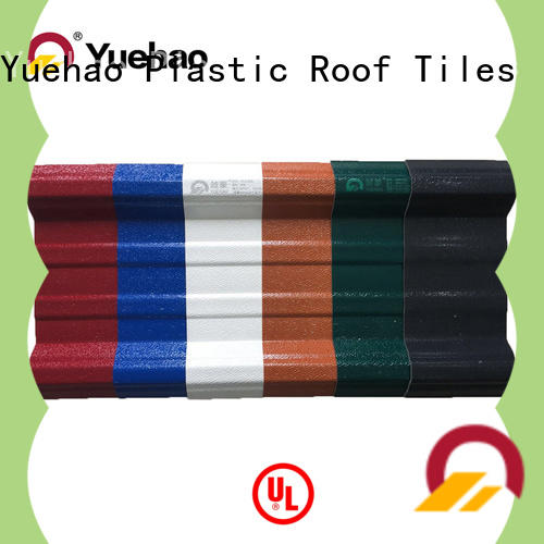 Yuehao plastic roof tiles wholesaler anti- aging lightweight plastic roof tiles for construction application