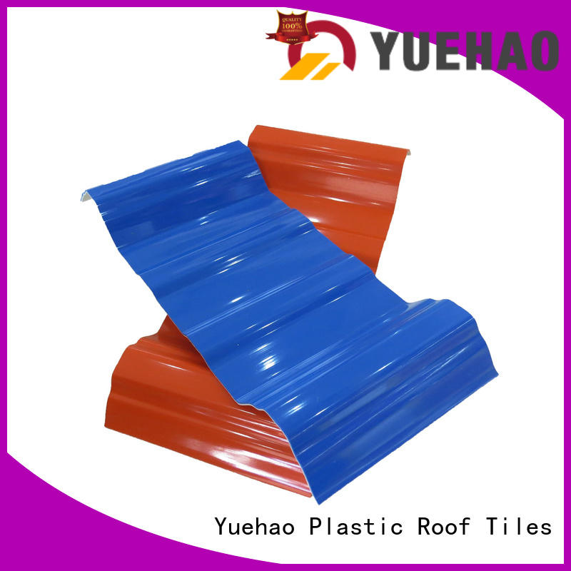 Yuehao plastic roof tiles wholesaler Brand hot sale hot selling lightweight plastic roof tiles manufacture