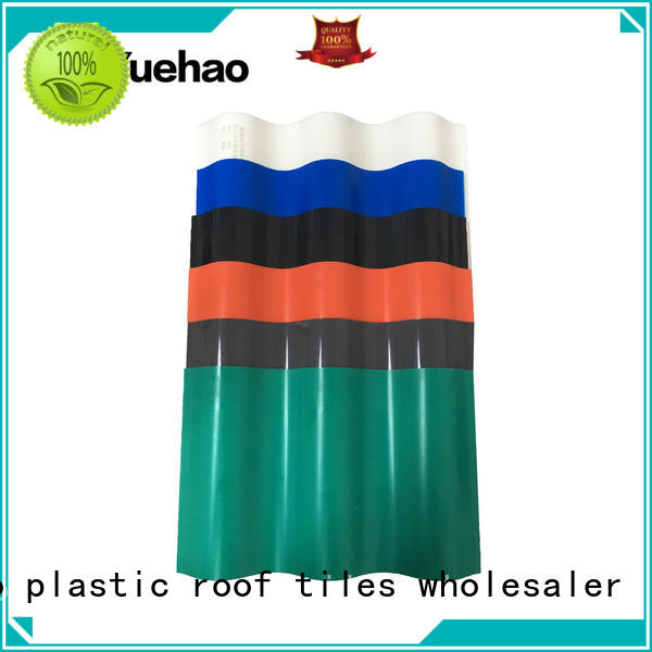 Yuehao plastic roof tiles wholesaler durable lightweight plastic roof tiles for manufacturer for water draining