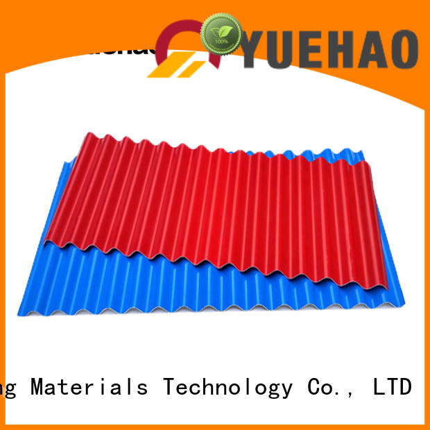 Yuehao plastic roof tiles wholesaler widely used PVC recycled plastic roof tiles bulk production for farm land