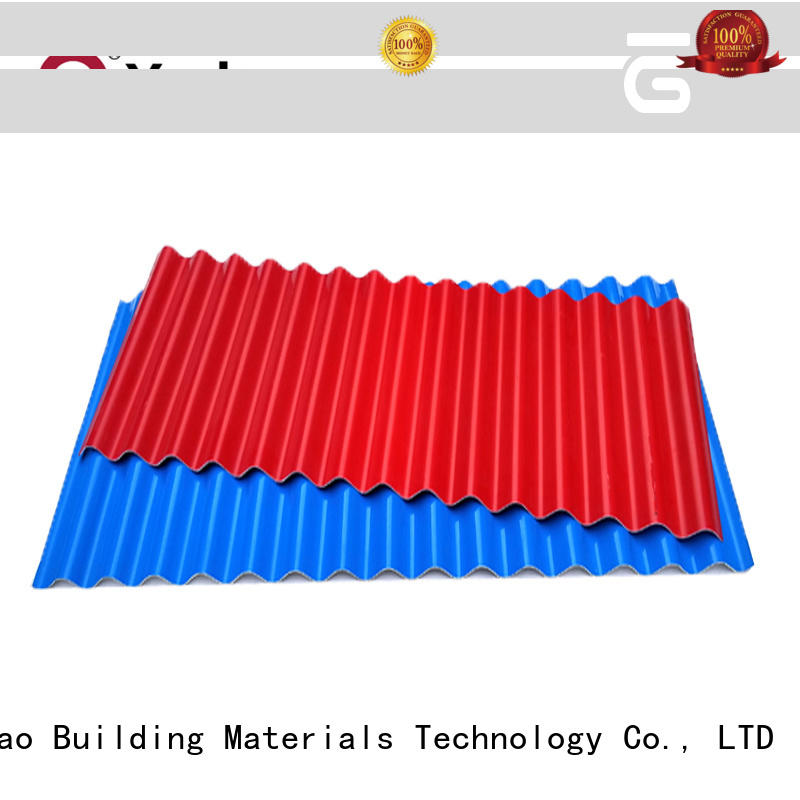 Yuehao plastic roof tiles wholesaler easy installation PVC recycled plastic roof tiles producer for depot