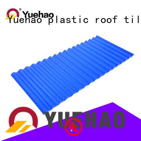 Yuehao plastic roof tiles wholesaler chinese plastic roof tiles reviews overseas market for gazebo