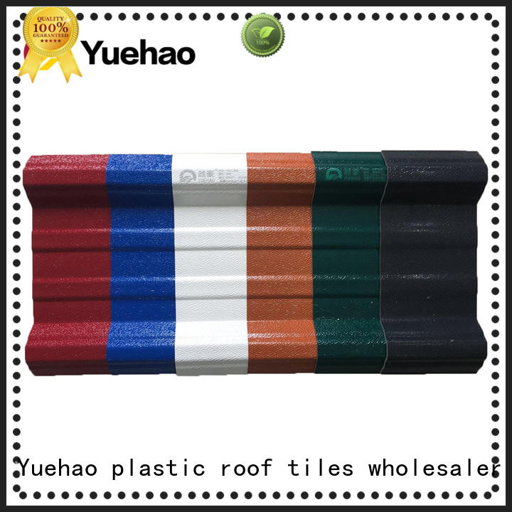 Yuehao plastic roof tiles wholesaler anti pvc roofing sheet price factory price