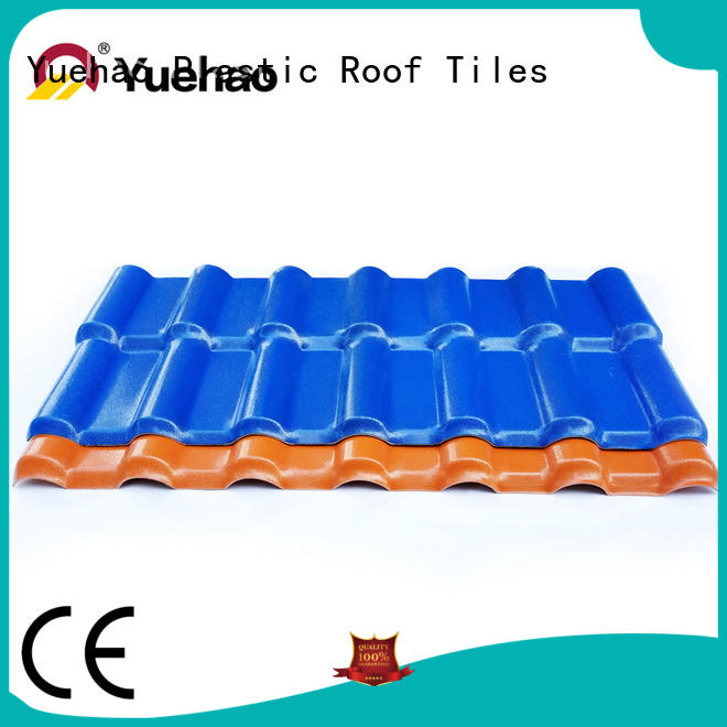 Yuehao plastic roof tiles wholesaler size ASA Roofing Sheets design for dormer clapping