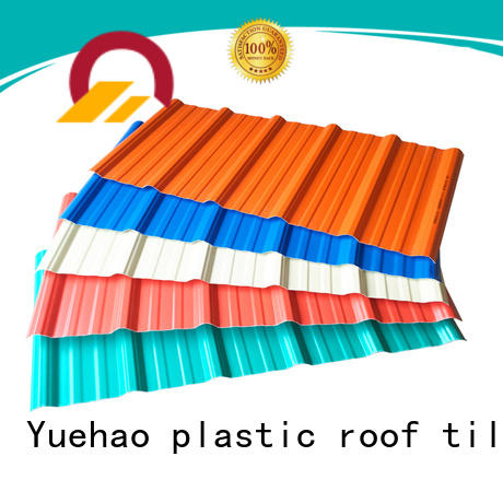 Yuehao plastic roof tiles wholesaler disabled lightweight roof tiles for sheds factory price for eaves flashing board