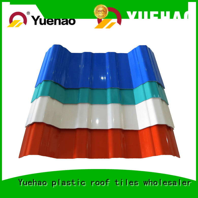 Yuehao plastic roof tiles wholesaler popular plastic roofing tiles suppliers factory price for eaves flashing board