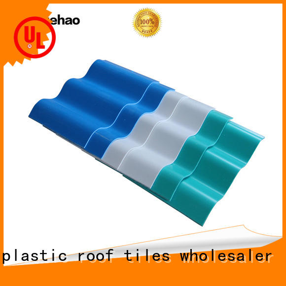 Yuehao plastic roof tiles wholesaler coated lightweight roofing system wholesale for connection