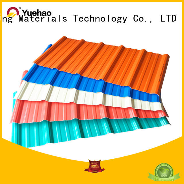 Yuehao plastic roof tiles wholesaler durable lightweight roofing system supplier for water draining