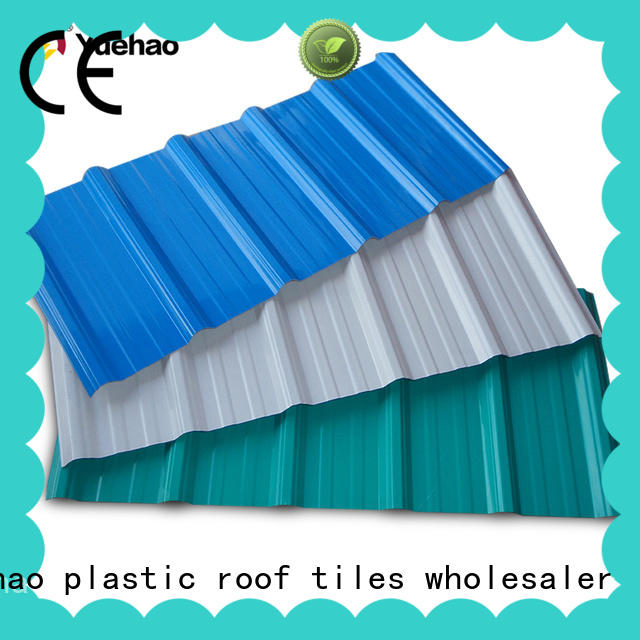 Yuehao plastic roof tiles wholesaler corrosion heavy duty pvc sheet producer for station