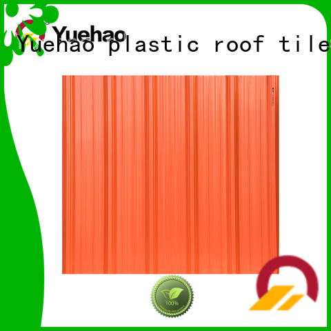 Yuehao plastic roof tiles wholesaler pvc plastic roof tiles reviews owner for airport