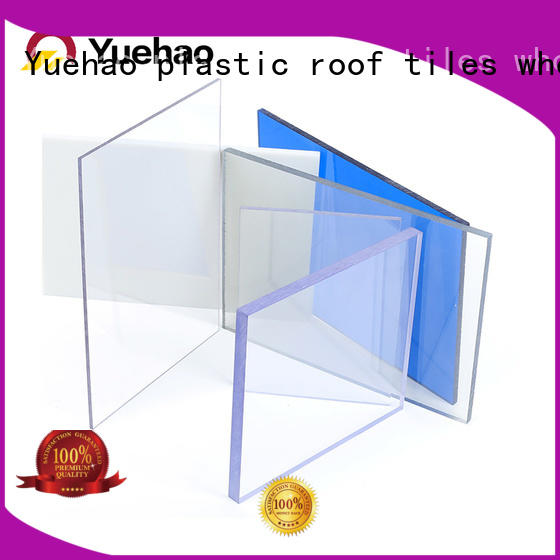 corrugated clear plastic roofing greenhouse solid for water draining Yuehao plastic roof tiles wholesaler