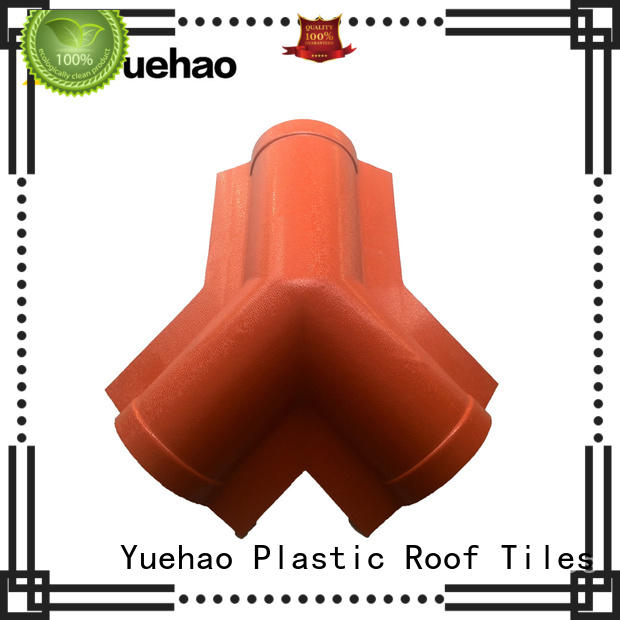 Yuehao plastic roof tiles wholesaler resin house roof accessories supplier for ending decoration