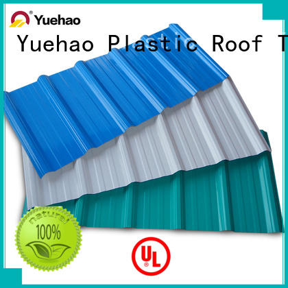 Yuehao plastic roof tiles wholesaler widely used plastic roof tiles reviews for manufacturer for airport