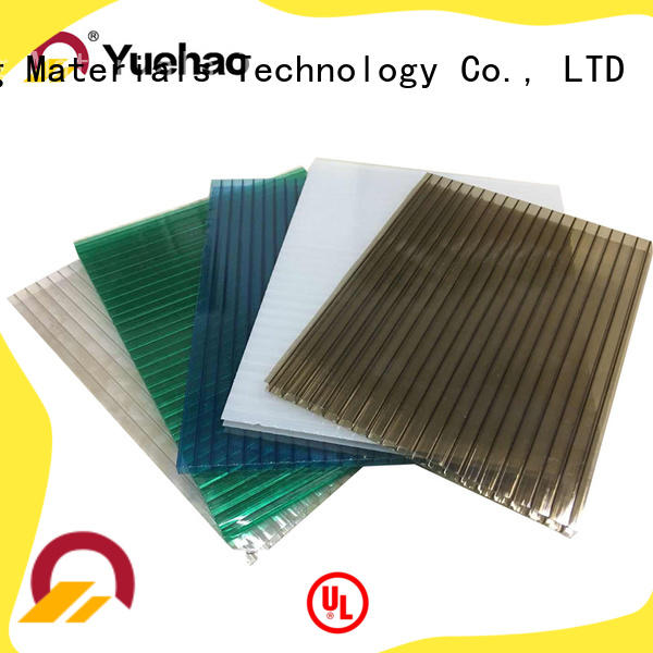 Yuehao plastic roof tiles wholesaler skylight clear porch roof panels overseas market for connection