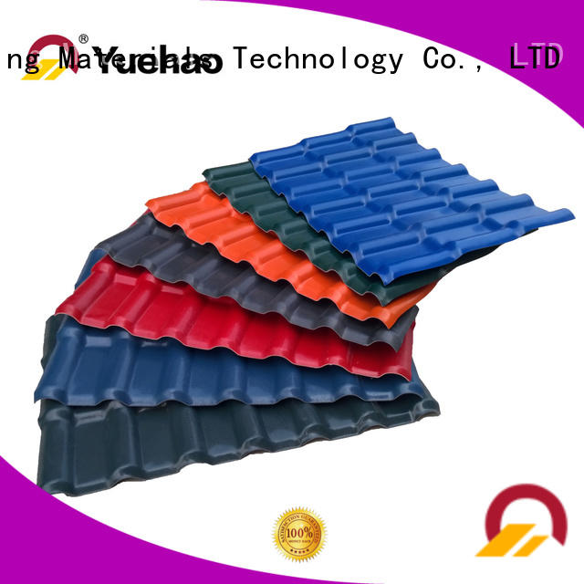 Yuehao plastic roof tiles wholesaler synthetic ASA Roofing factory for eaves flashing board