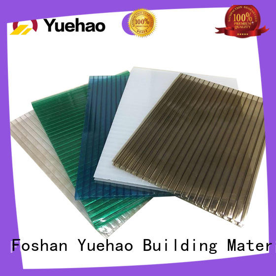 solid clear acrylic roofing sheets pc for ending decoration Yuehao plastic roof tiles wholesaler