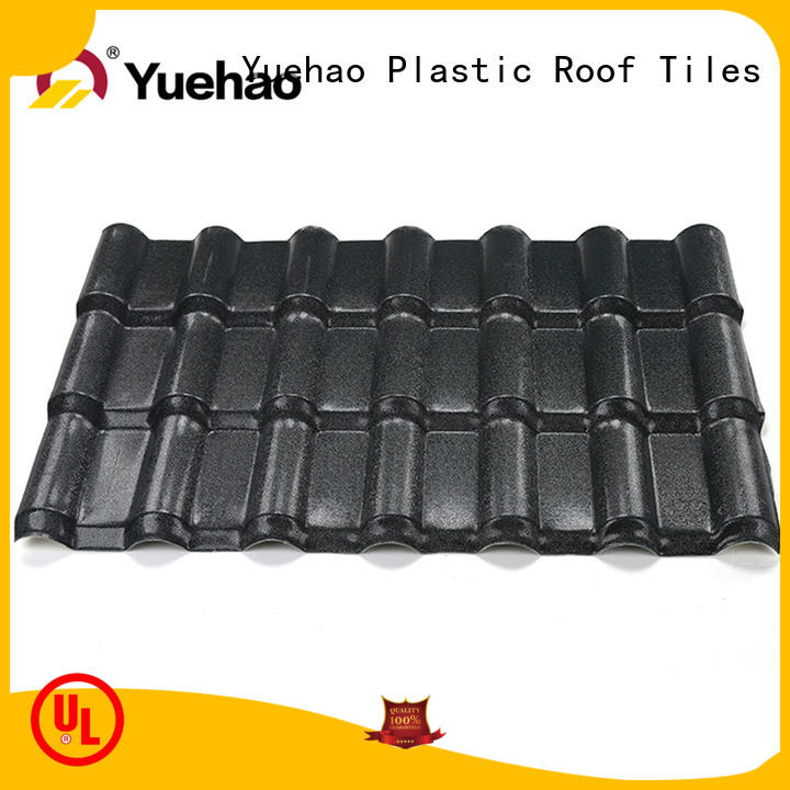 Yuehao plastic roof tiles wholesaler competitive price recycled plastic roof tiles factory for water draining