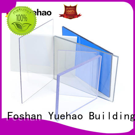 Yuehao plastic roof tiles wholesaler sheet clear porch roof panels marketing for eaves flashing board