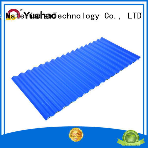 plastic sheet roofing products sound for wall cladding Yuehao plastic roof tiles wholesaler