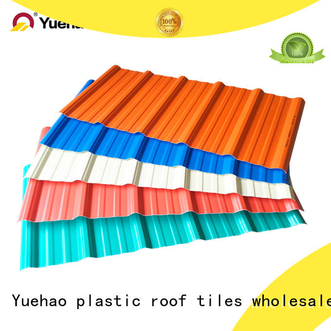 easy installation heat protection roof for manufacturer for eaves flashing board Yuehao plastic roof tiles wholesaler