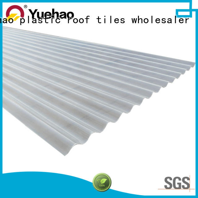 Yuehao plastic roof tiles wholesaler economical clear panels for roofing factory price for ending decoration