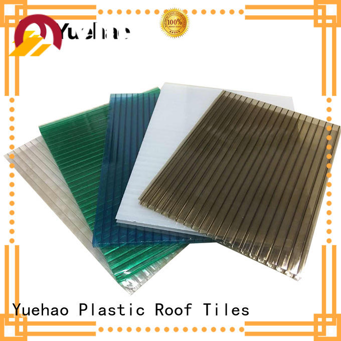 Yuehao plastic roof tiles wholesaler luxury clear panels for roofing factory price for eaves flashing board