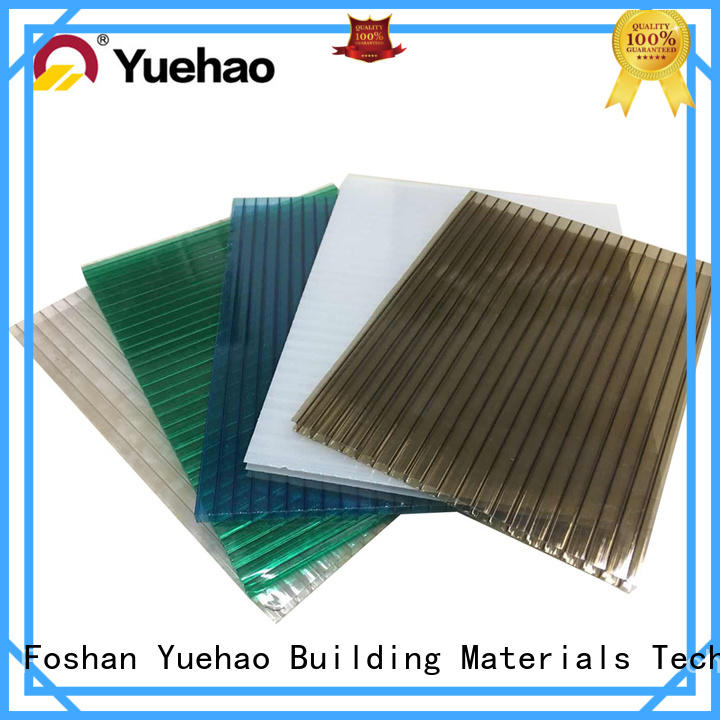 Yuehao plastic roof tiles wholesaler hollow clear corrugated fiberglass roofing panels owner for eaves flashing board