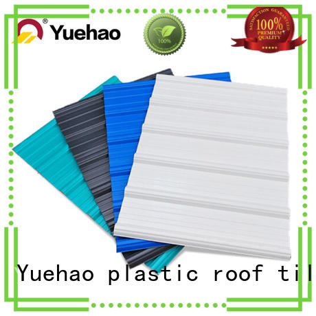 Yuehao plastic roof tiles wholesaler heat resistant coloured plastic corrugated roofing sheets producer for airport