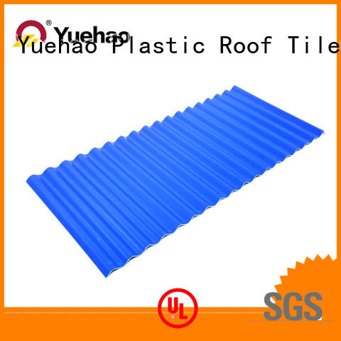 Yuehao plastic roof tiles wholesaler color plastic roof tiles reviews shop now for airport